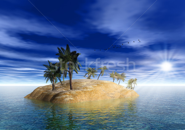On the island. Abstract sea and ocean backgrounds Stock photo © tolokonov
