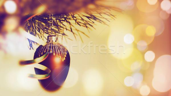 Рождества красоту bokeh дизайна мяча карт Сток-фото © tolokonov