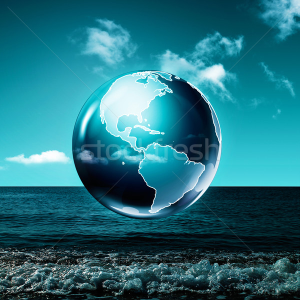 Zöld Föld absztrakt környezeti hátterek víz Stock fotó © tolokonov