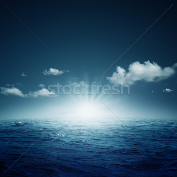 Nightly ocean. Abstract natural backgrounds Stock photo © tolokonov