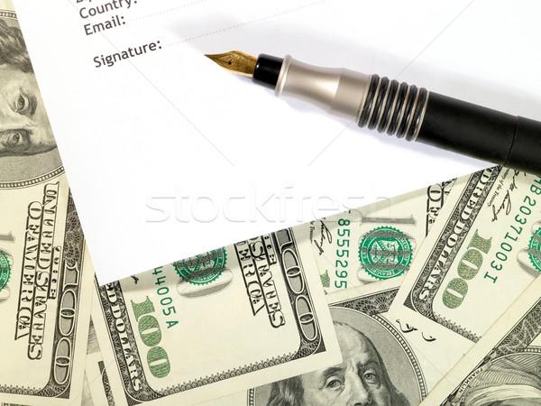 деньги договор форме банка обои наличных Сток-фото © tolokonov