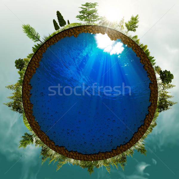 зеленый Мир аннотация окружающий дизайна небе Сток-фото © tolokonov