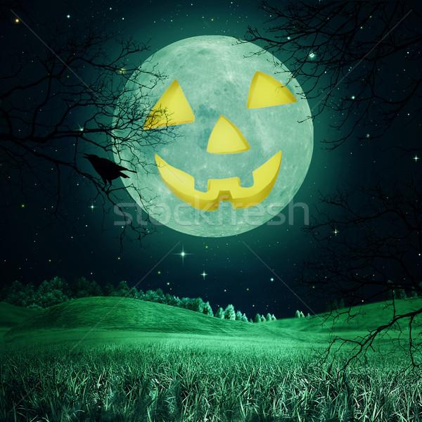 Foto stock: Resumen · halloween · fondos · diseno · árbol · madera