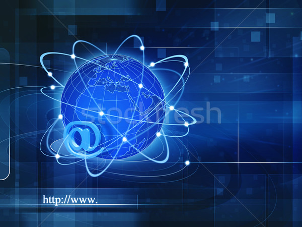Global Information Society, abstract techno backgrounds for your Stock photo © tolokonov