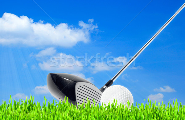 golf, abstract sport backgrounds against the blue skies Stock photo © tolokonov