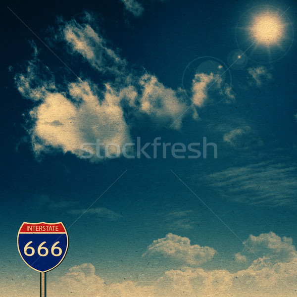 Interstate 666. Abstract vintage backgrounds with old cardboard  Stock photo © tolokonov