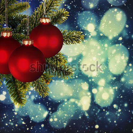 Christmas backgrounds. Art oil painting stylization for your des Stock photo © tolokonov