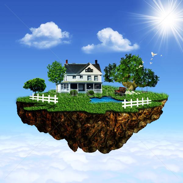 Eco island. Abstract environmental backgrounds for your design Stock photo © tolokonov