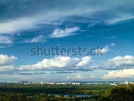 White city under the blue skies, urban landscape Stock photo © tolokonov