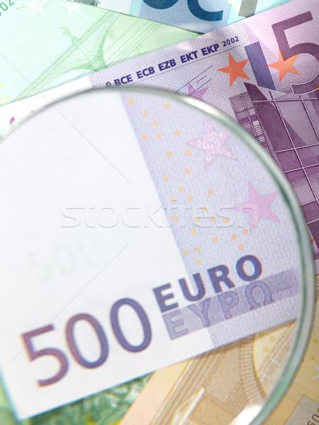 Money background from euro banknotes Stock photo © tolokonov