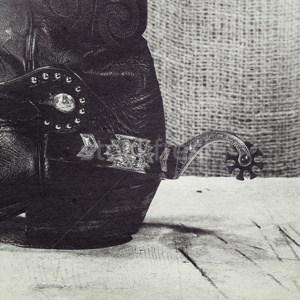 Western still life with added old cardboard texture for your des Stock photo © tolokonov