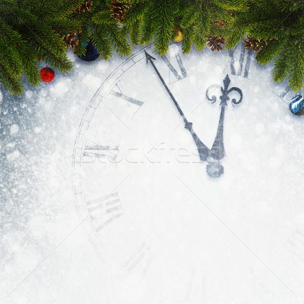 Visszaszámlálás új év absztrakt ünnepek hátterek kezek Stock fotó © tolokonov