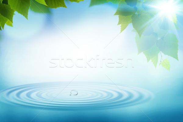 Zomer regen abstract milieu achtergronden ontwerp Stockfoto © tolokonov