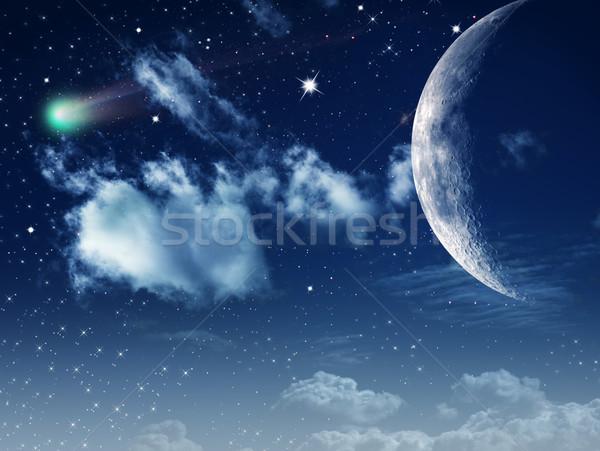 Ay ışığı soyut doğal arka dizayn Paskalya Stok fotoğraf © tolokonov