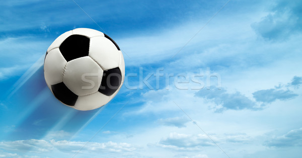 abstract football ar soccer backgrounds against blue skies Stock photo © tolokonov
