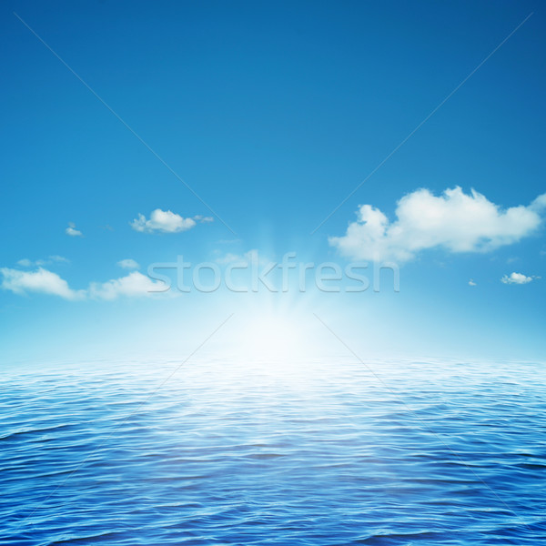 Rising sun. Abstract natural backgrounds Stock photo © tolokonov