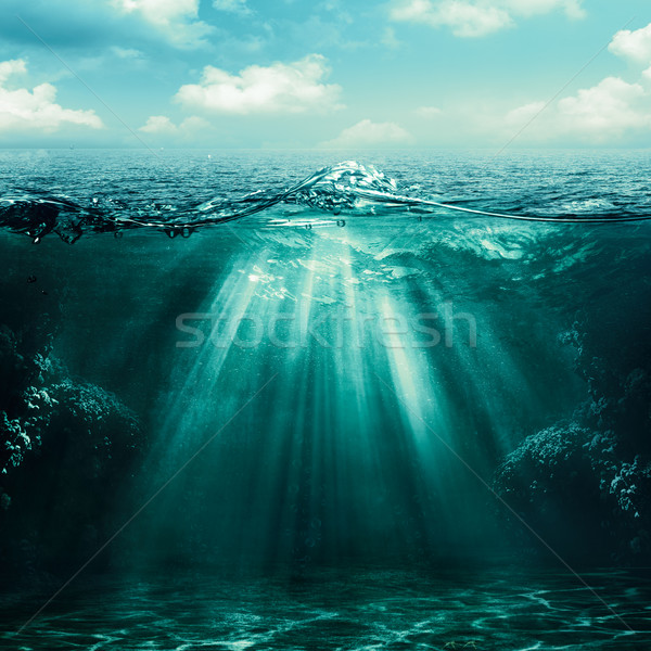Stock photo: Abyss. Abstract environmental backgrounds for your design