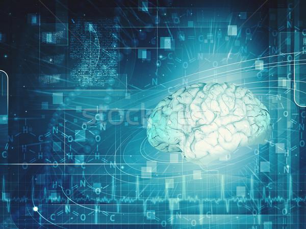 Wetenschap onderzoek achtergronden ontwerp gezicht man Stockfoto © tolokonov