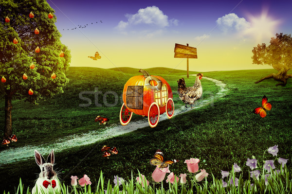 Wonderland. Abstract fairy tale backgrounds for your design Stock photo © tolokonov