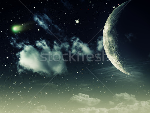 Night skies, abstract environmental backgrounds for your design Stock photo © tolokonov