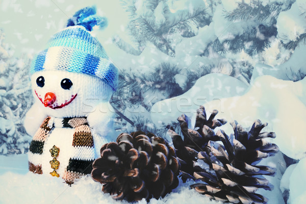 Navidad funny fondos diseno feliz invierno Foto stock © tolokonov