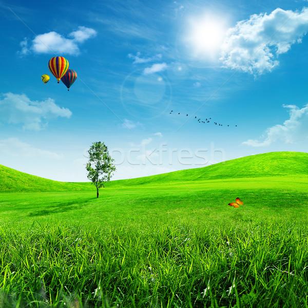 Abstract milieu achtergronden ontwerp Pasen hemel Stockfoto © tolokonov