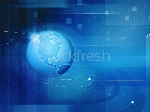 Soyut techno arka dizayn dünya uzay Stok fotoğraf © tolokonov