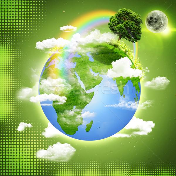 Stock fotó: Zöld · Föld · absztrakt · természetes · hátterek · fa