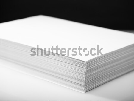 Stack of white printer and copier paper  Stock photo © tolokonov
