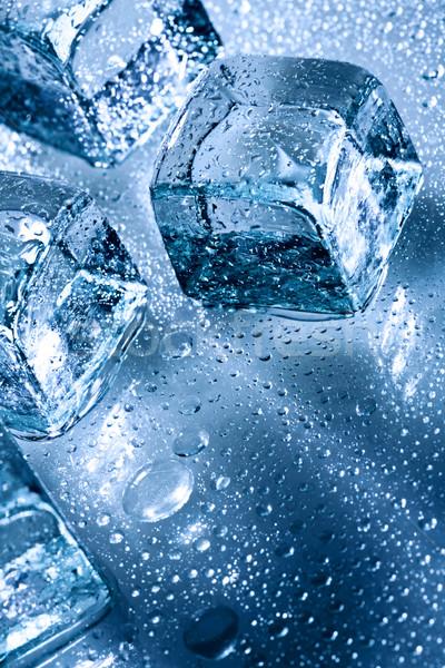 氷 水滴 抽象的な ぬれた 水 コーヒー ストックフォト © tolokonov