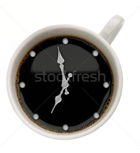 кофе время аннотация продовольствие фоны часы Сток-фото © tolokonov