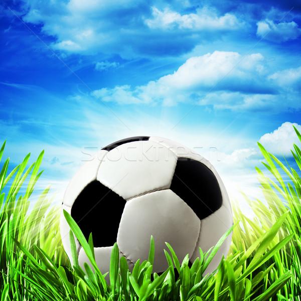Abstract voetbal achtergronden heldere zon voetbal Stockfoto © tolokonov