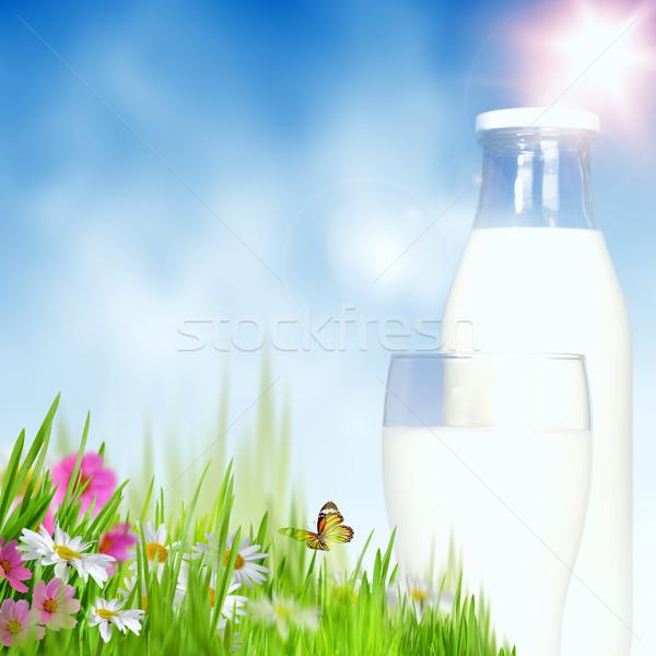 молочный сезон аннотация природного фоны небе Сток-фото © tolokonov