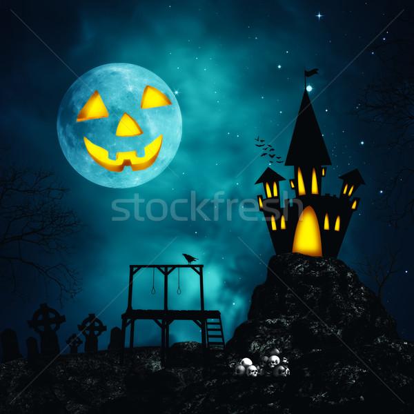 Gelukkig halloween abstract horror achtergronden ontwerp Stockfoto © tolokonov