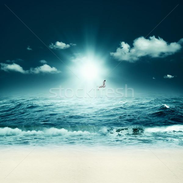 Hermosa mar resumen marinos fondos diseno Foto stock © tolokonov