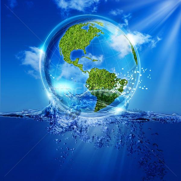 жизни воды аннотация Эко фоны дизайна Сток-фото © tolokonov