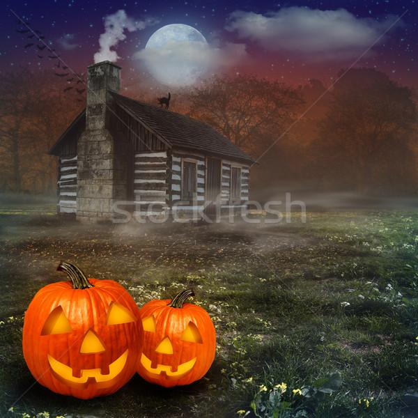 Foto stock: Halloween · resumen · fondos · diseno · árbol · edificio