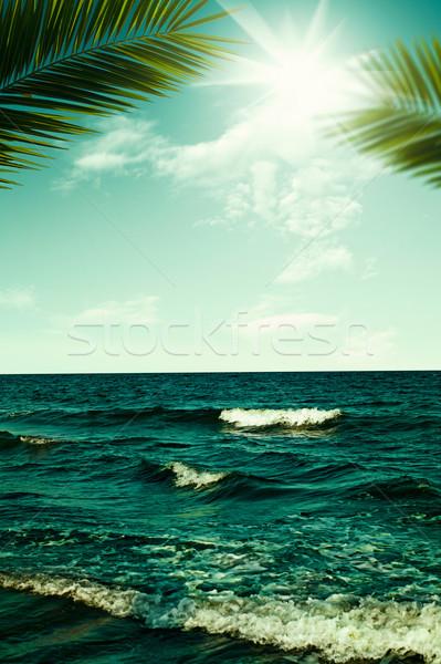 Resumen vacaciones viaje fondos diseno cielo Foto stock © tolokonov