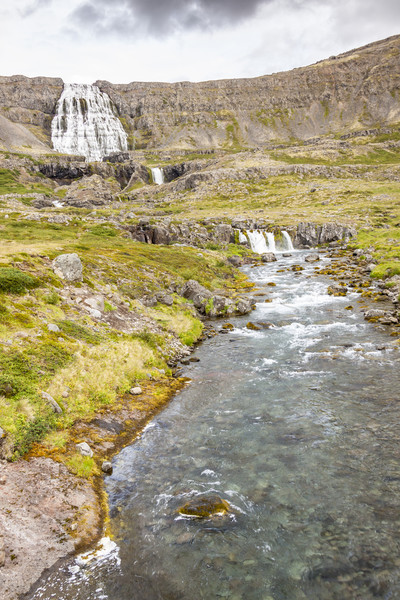 Rapid river in background Dynjandi waterfall - Iceland. Stock photo © tomasz_parys