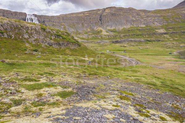 Rota çağlayan İzlanda görmek gökyüzü doğa Stok fotoğraf © tomasz_parys