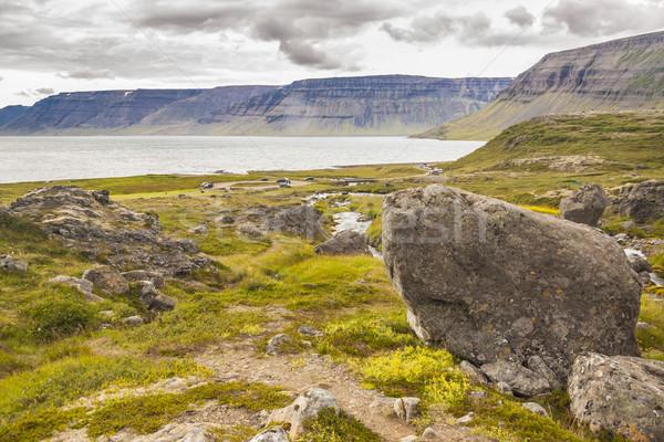 View on Arnarfjordur fjord - Iceland. Stock photo © tomasz_parys