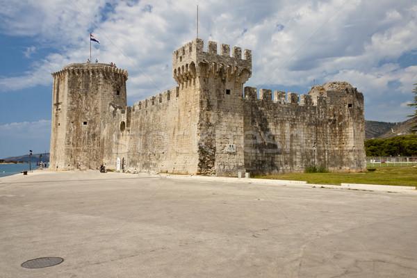 View on Kamerlengo  castle - Trogir Stock photo © tomasz_parys