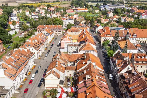 Polonya ev şehir ev Stok fotoğraf © tomasz_parys