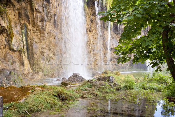 Grand cascade vue Croatie eau Photo stock © tomasz_parys
