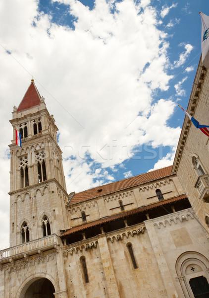 Katedral Hırvatistan görmek eski güzellik unesco Stok fotoğraf © tomasz_parys