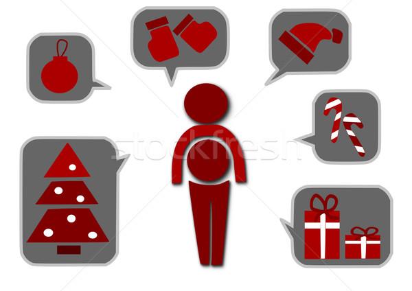 mann weihnachten symbole einfache zeit blatt vektor grafiken tomasz parys tomasz. Black Bedroom Furniture Sets. Home Design Ideas