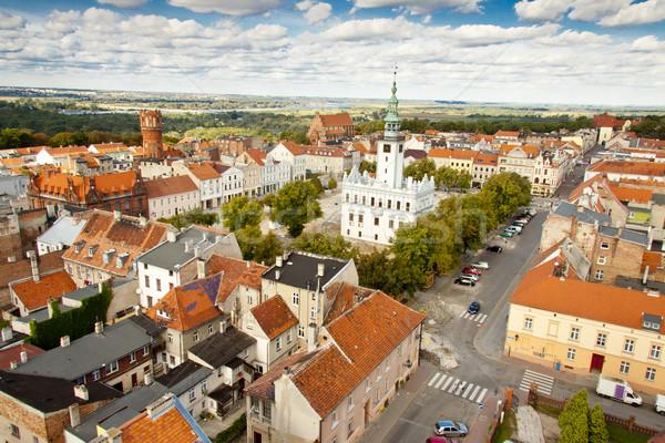 Aerial view on city hall - Chelmno, Poland. Stock photo © tomasz_parys