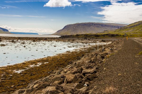 Islândia ver céu nuvens natureza mar Foto stock © tomasz_parys