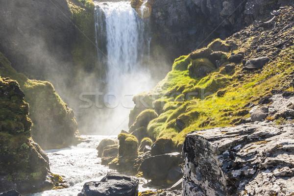 Dynjandi waterfall - Iceland. Stock photo © tomasz_parys
