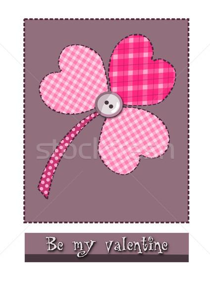 Hearts clover for valentine time. Stock photo © tomasz_parys